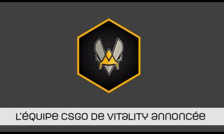 La nouvelle équipe Vitality confirmée !