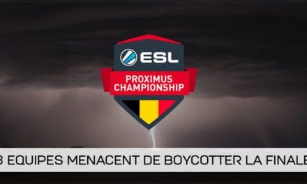 [MAJ] Menace de boycotte de 3 équipes à l'ESL Proximus League of Legends