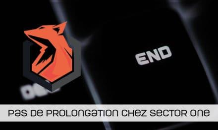 Pas de prolongation pour l'équipe CSGO de Sector One