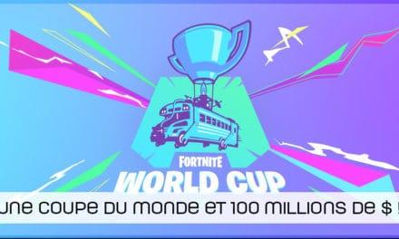 Fortnite : une coupe du monde et 100 millions de dollars pour 2019