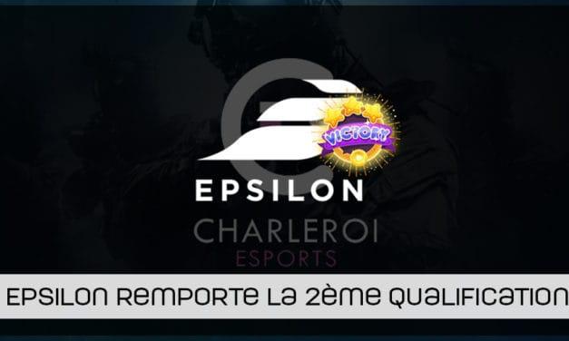 Epsilon remporte la 2ème qualification Europe pour la Charleroi esports