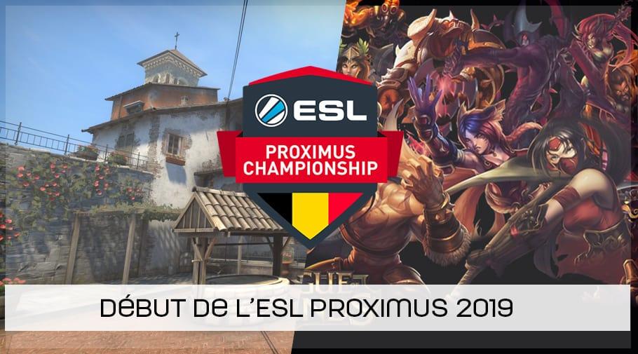 Début de l'ESL Proximus Championship Winter 2019
