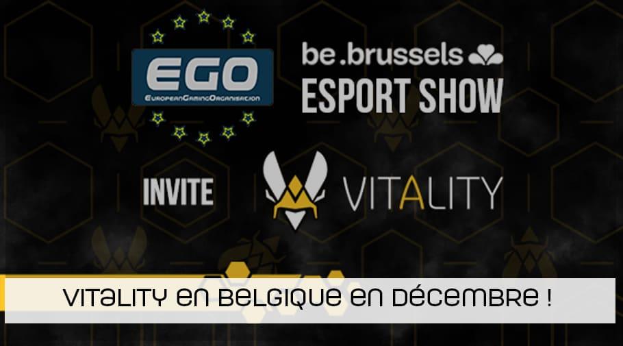 Team Vitality en Belgique en décembre lors de l EGO Brussels esport show