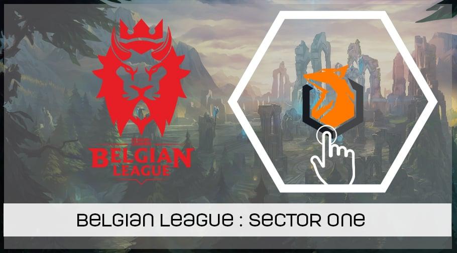 LoL Belgian League - présentation de Sector One