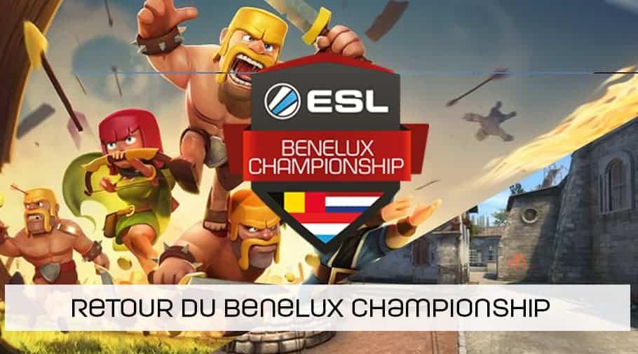 Fin de l'ESL Proximus - retour de l'ESL Benelux Championship