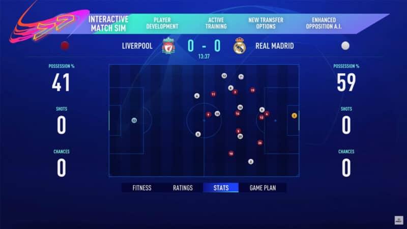 FIFA 21 - Simulation match - mode carrière