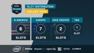 ESL Pro league slots dallas 2018