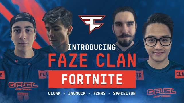 FaZe clan investit dans une équipe fortnite
