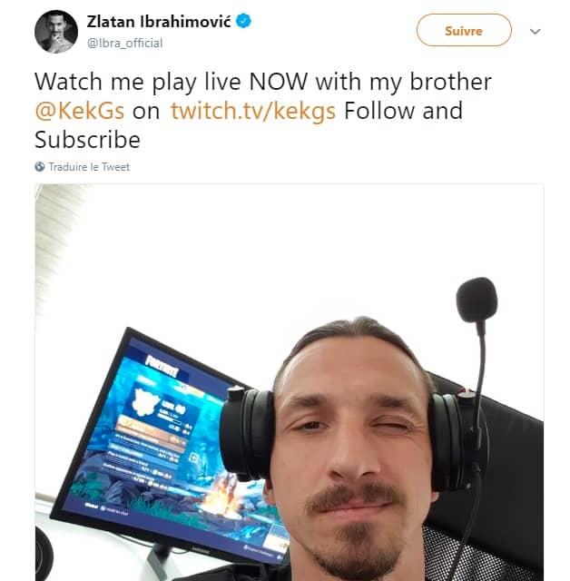 C'est au tour de Zlatan de jouer à Fortnite sur Twitch!