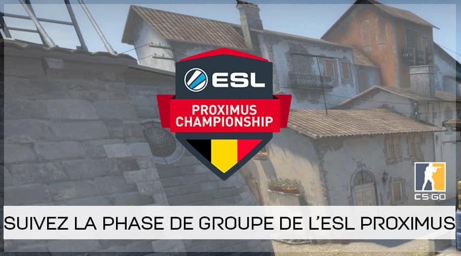 ESL Proximus : les équipes qualifiées sont connues !