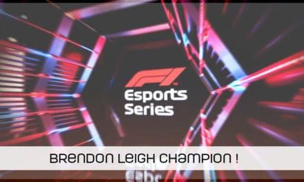 Brendon Leigh champion en F1 Esports Series