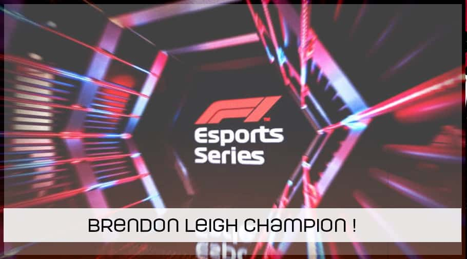 Brendon Leigh champion en F1 Esports Series