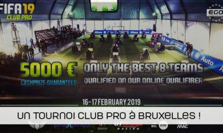 [MAJ] L'EGO organise un tournoi FIFA19 Club Pro à Bruxelles !