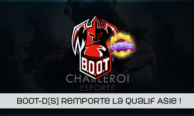 BOOT-d[S] remporte la qualification asiatique pour la Charleroi esports