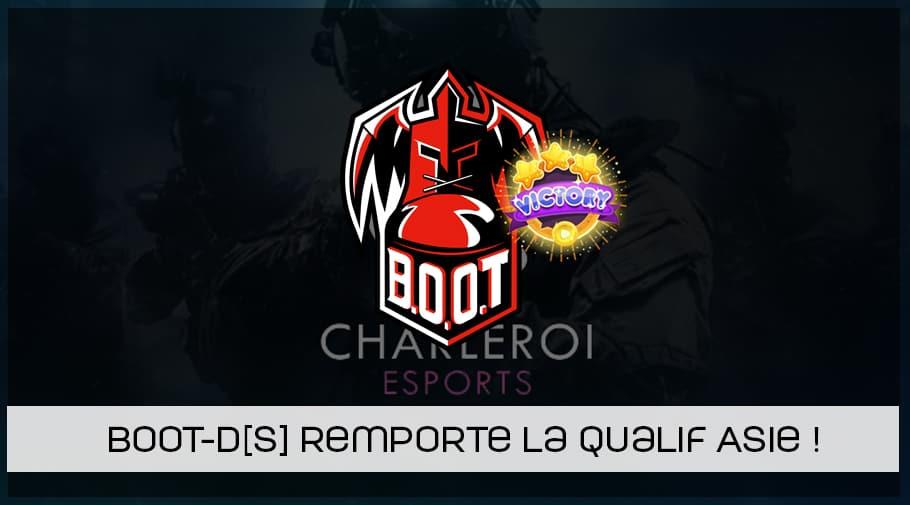 BOOT-d[S] remporte la qualification asiatique pour la Charleroi esports