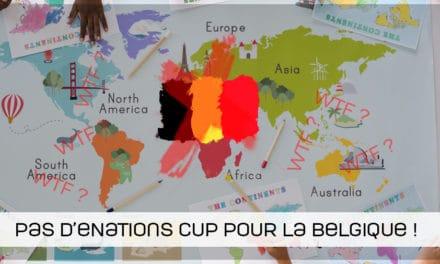 Pas d'eNATIONS CUP pour la Belgique !