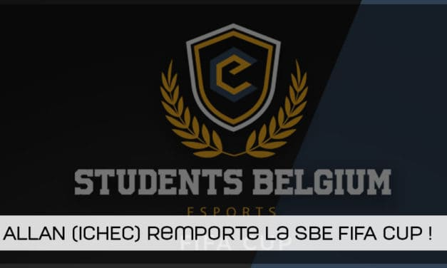 Allan De Smidt (ICHEC) remporte la Students Belgium Esports FIFA Cup