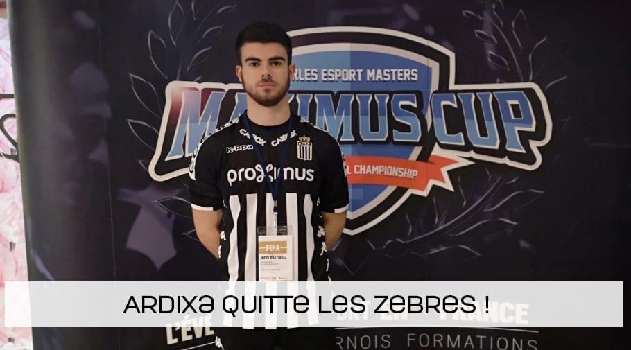 Ardixa quitte le Sporting de Charleroi !
