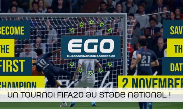 Un tournoi FIFA20 au Stade Roi Baudouin organisé par EGO