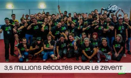 Le ZEVENT récolte plus de 3,5 millions au profit de l'Institut Pasteur