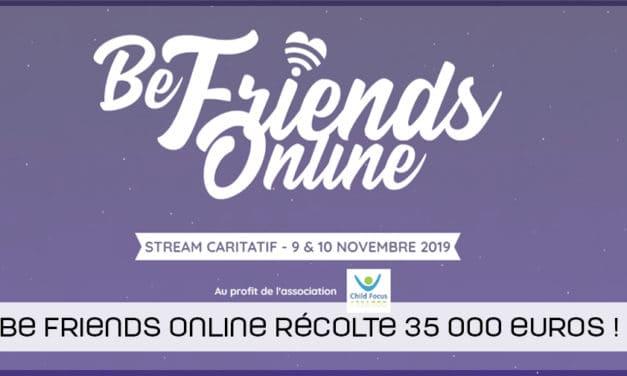 Be Friends Online récolte plus de 35 000 euros pour ChildFocus