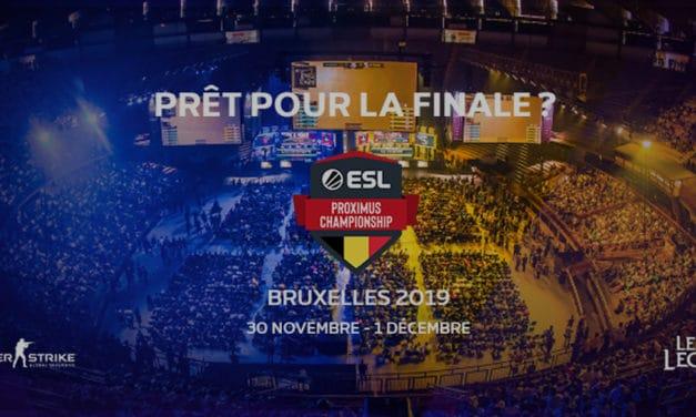 La finale de l'ESL Proximus 2019