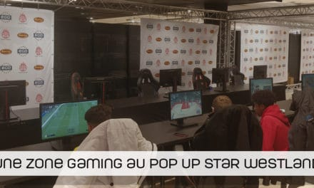 Une zone gaming dans le Pop Up Star du Westland Anderlecht