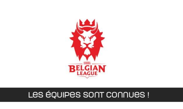 Les équipes de la Belgian League de LoL