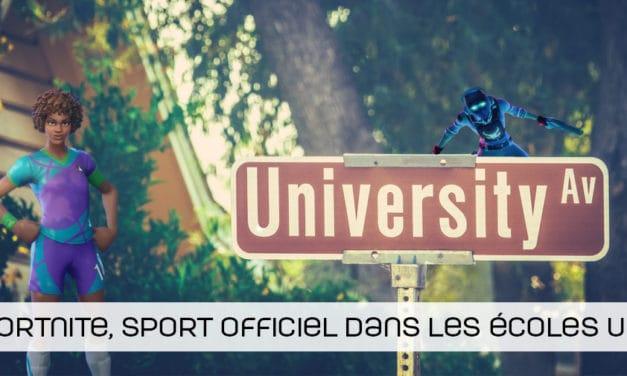 Fortnite devient un sport officiel au sein des écoles américaines !