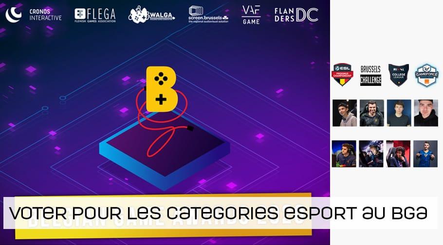 Trois catégories esport au Belgian Game Awards