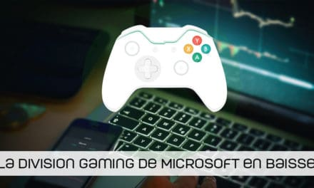 Chiffre d'affaires en baisse pour la division gaming de Microsoft