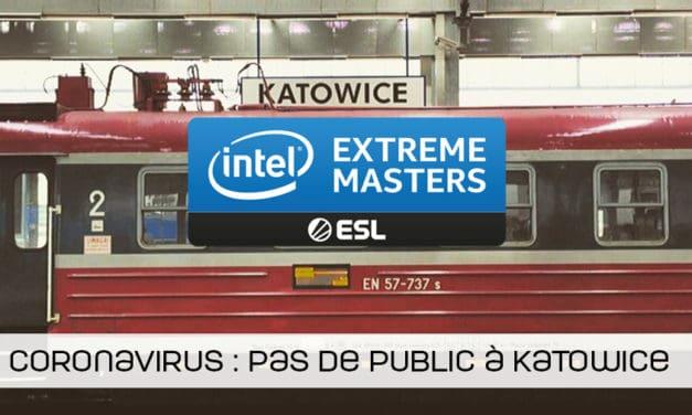 Les IEM Katowice se dérouleront sans public à cause du coronavirus