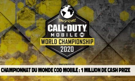 1 million de dollars pour le championnat du monde Call of Duty Mobile