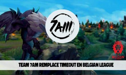 Team 7AM remplacera Timeout au sein de le Belgian League