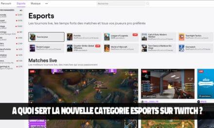 Esport Discovery, la nouvelle catégorie sur Twitch