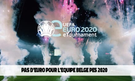 Pas d'Euro pour l'équipe belge PES 2020