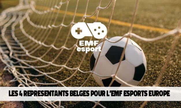 Les quatre joueurs belges pour l'EMF Esports Europe