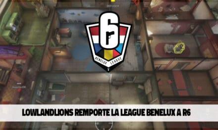 LowLandLions remporte la Rainbow 6 Benelux League